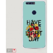 Case Place Чехол для Huawei Honor 8 Пластиковый чехол Have a light day на Huawei Honor 8 60940-9R60516